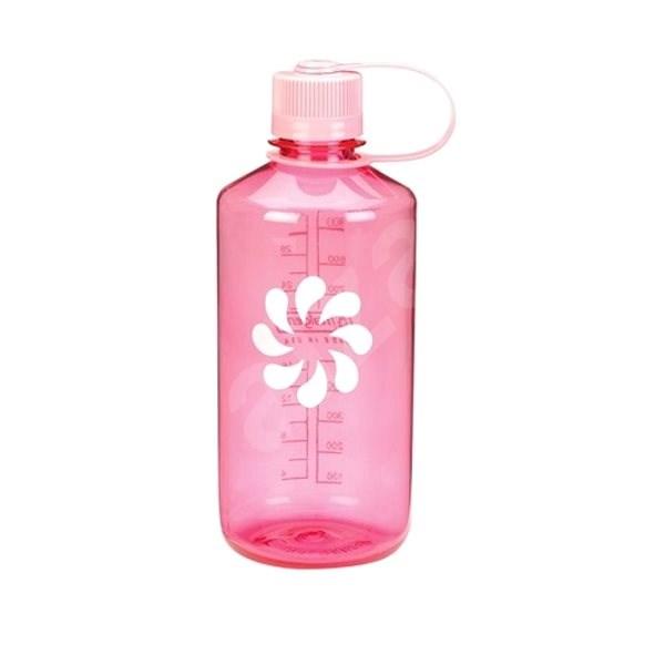 Nalgene Narrow Mouth Pink/flower 1000ml - Láhev na pití