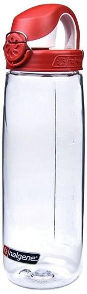 Nalgene OTF Clear 650ml Fire Red & White Cap - Láhev na pití
