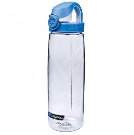 Nalgene OTF Clear 650ml Seaport Blue&White Cap - Láhev na pití