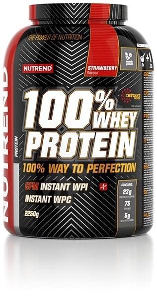 Nutrend 100% Whey Protein, 2250g, jahoda - Protein