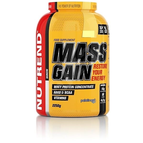 Nutrend Mass Gain, 2250 g, banán - Gainer