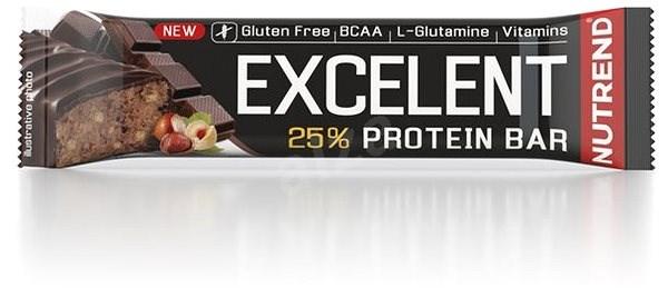 Nutrend EXCELENT protein bar, 85 g, čokoláda s oříšky - Proteinová tyčinka