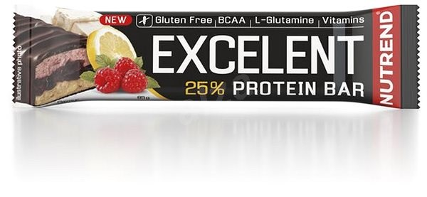 Nutrend EXCELENT Bar Double, 85g, Lemon + Curd + Raspberries with Cranberries - Protein Bar