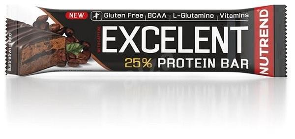 Nutrend EXCELENT Bar double with Caffeine, 85 g, brazilská káva - Proteinová tyčinka