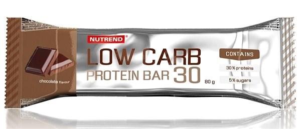 Nutrend LOW CARB Protein Bar 30, 80 g, čokoláda - Proteinová tyčinka