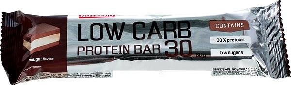 Nutrend LOW CARB Protein Bar 30, 80 g, nugát - Proteinová tyčinka