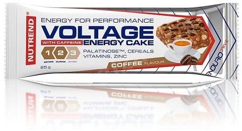 Nutrend Voltage Energy Cake with Caffeine, 65 g, káva - Energetická tyčinka