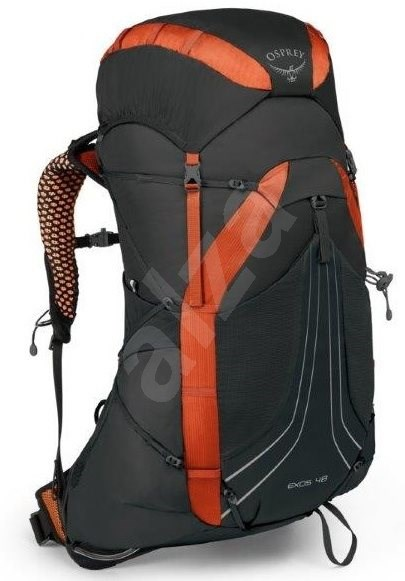 9a4b7a6c99 Osprey Exos 48 II blaze black MD - Turistický batoh
