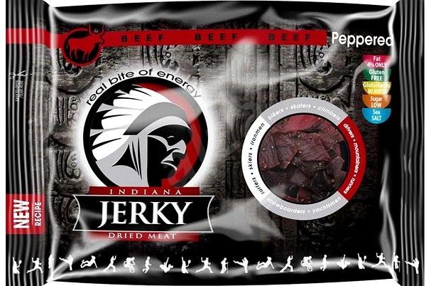 Indiana Jerky beef Peppered 100g - sušené maso