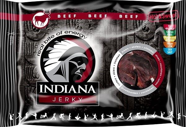 Indiana Jerky beef Hot & Sweet 100g - sušené maso
