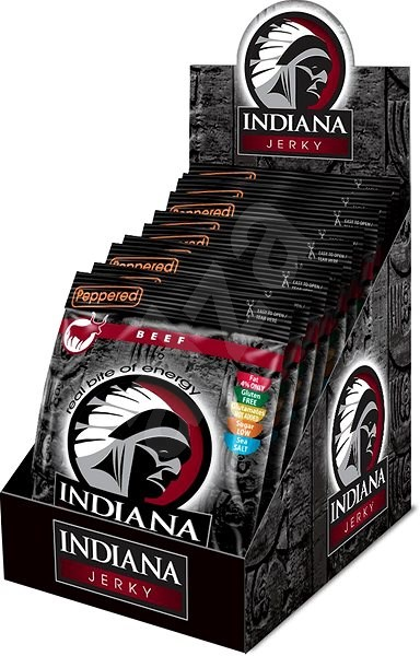 Indiana Jerky beef Peppered 10× 25 g - sušené maso