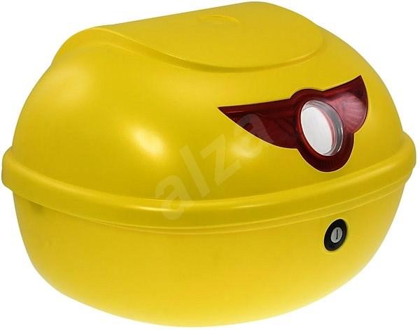 Zadní kufr k elektrickému motocyklu RACCEWAY SMART, žlutý-lesklý - Kufr