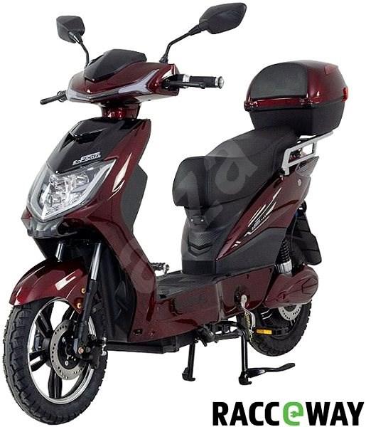 Racceway E-Fichtl, 12Ah, Burgundy-Glossy - Electric scooter
