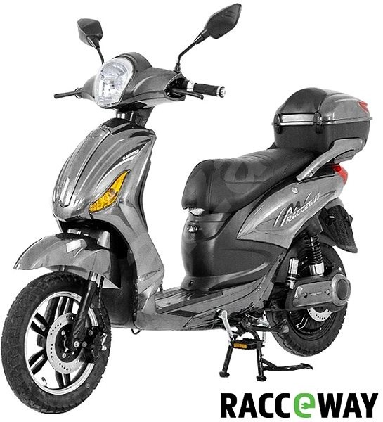 Racceray E-Moped, 12Ah, Grey-Glossy - Electric scooter