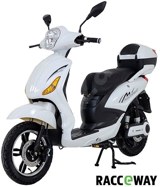 Racceray E-Moped, 12Ah, White-Glossy - Electric scooter