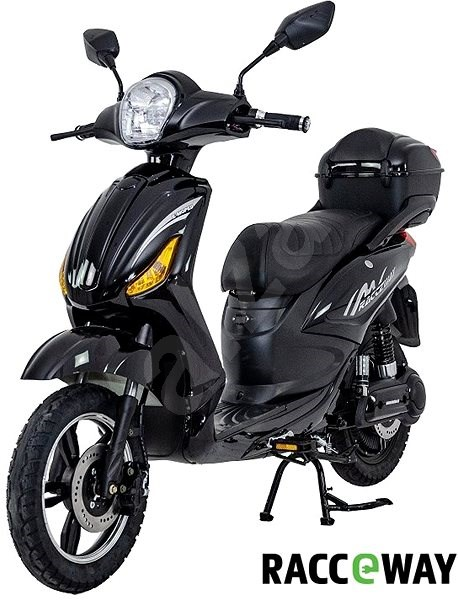Racceray E-Moped, 12Ah, Black-Glossy - Electric scooter