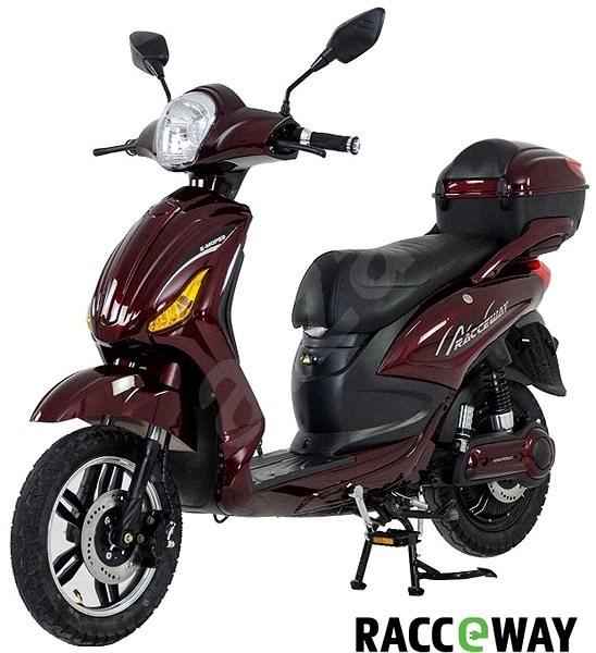 Racceway E-Moped, 12Ah, vínový-lesklý - Elektroskútr