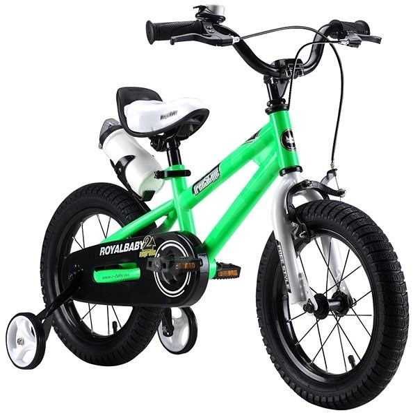 """RoyalBaby Freestyle 16"""" zelená - Dětské kolo"""