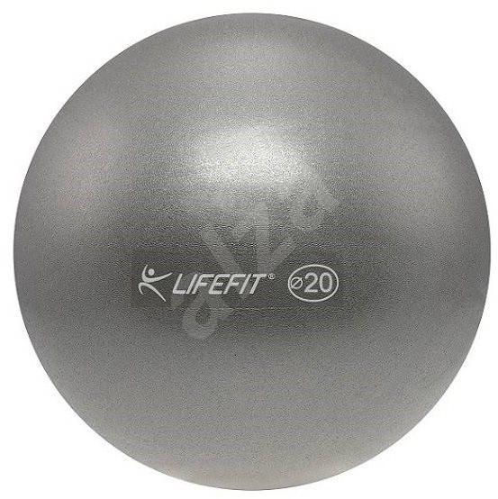Lifefit overball 20cm, stříbrný - Gymnastický míč