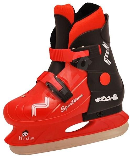 Sportteam Kids, vel. L(37-40), černo-červené - Dětské lední brusle