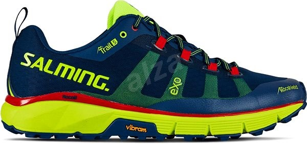 Salming Trail 5 Men Poseidon Blue/Safety Yellow 45 1/3 EU / 290 mm - Běžecké boty