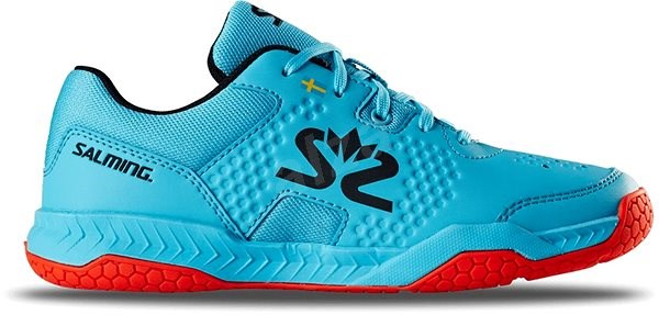 Salming Hawk Court Shoe JR Blue/Red vel. 36 EU / 235 mm - Sálovky