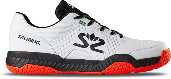 Salming Hawk Court Shoe Men White/Black size 43,33 EU / 275mm - Indoor shoes
