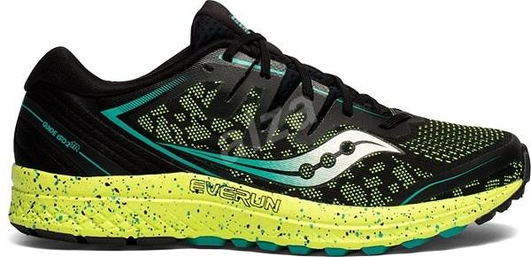 Saucony GUIDE ISO 2 TR černá/zelená - Běžecké boty
