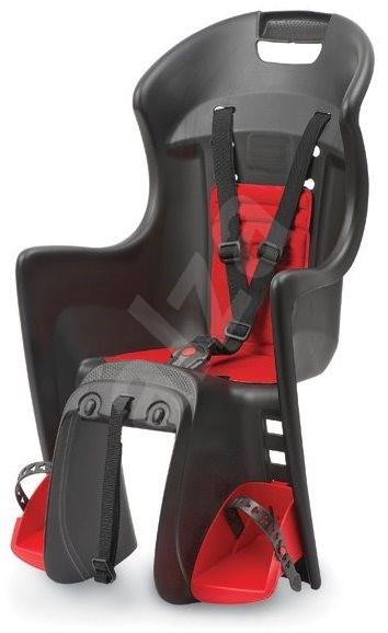384b13e7b7 Polisport Boodie černo-červená - Dětská sedačka na kolo