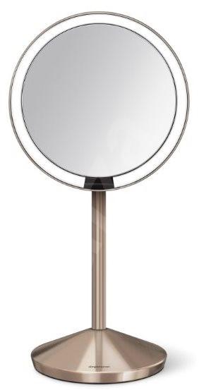 Simplehuman Sensor Tru-lux LED osvětlení 10x zvětšení, dobíjecí, Rose Gold - Kosmetické zrcátko