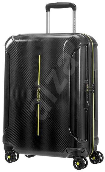 American Tourister Technum Spinner 66 EXP Black Blurred - Cestovní kufr s TSA zámkem