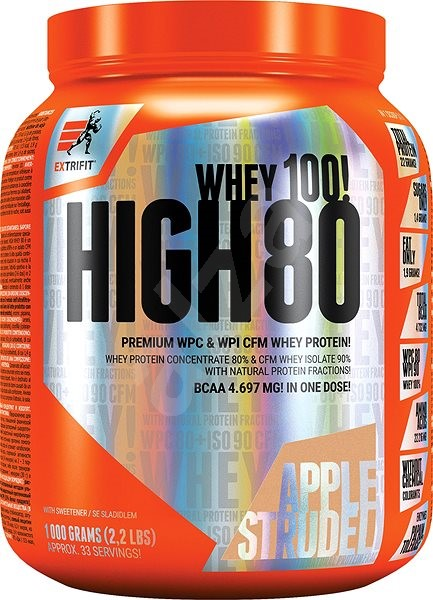 Extrifit High Whey 80 1000 g apple strudel - Protein