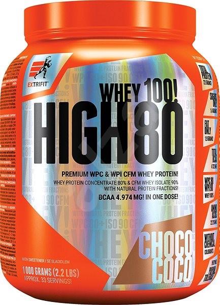 Extrifit High Whey 80, 1000g, choco coco - Protein
