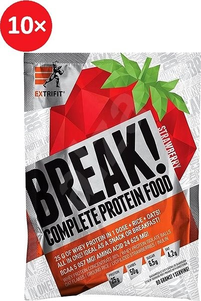 Extrifit Break! Protein Food 10 x 90 g strawberry - Smoothie