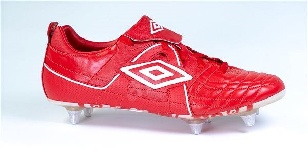 SPECIALI FOR ENGLAND SG Red / White, size 42 EU / 270 mm - Football Boots
