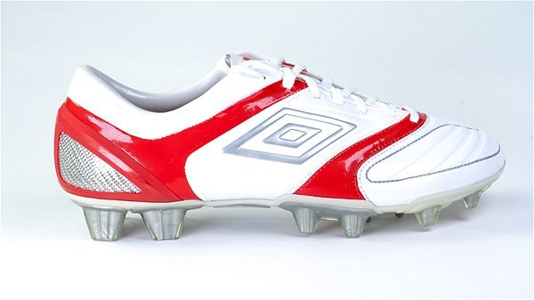 STEALTH PRO HG White/Silver/Red, size 46.5 EU/305mm - Football Boots