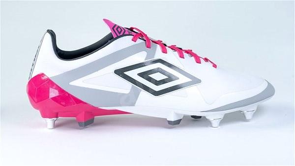 Umbro Velocita PRO SG White/Pink, vel. 40,5 EU / 255 mm - Kopačky