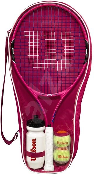 Wilson Burn Pink Starter Kit - Tenisová raketa