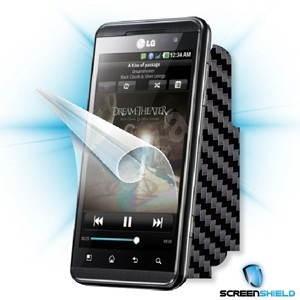 ScreenShield pro LG Optimus 3D (P920) na displej telefonu + Carbon skin černý - Ochranná fólie