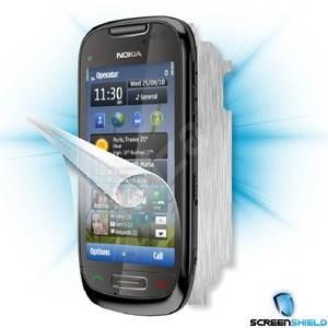 ScreenShield pro Nokia C7 na displej telefonu + Carbon skin stříbrný - Ochranná fólie