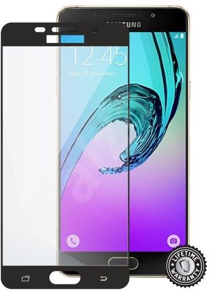 Screenshield SAMSUNG A510 Galaxy A5 (2016) BLACK metalic frame - Ochranné sklo