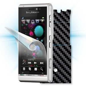 ScreenShield pro Sony Ericsson Satio na displej telefonu + Carbon skin černý - Ochranná fólie