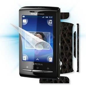 ScreenShield pro Sony Ericsson Xperia Mini na displej telefonu + Carbon skin imitace kůže - Ochranná fólie