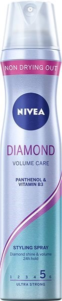 NIVEA Diamond Volume Care 250 ml - Lak na vlasy