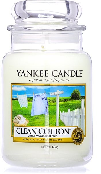 YANKEE CANDLE Classic Large Jar 623g Clean Cotton - Candle