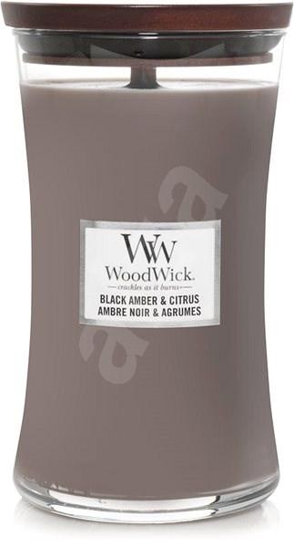 WOODWICK Black Amber and Citrus 609 g - Svíčka