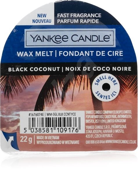YANKEE CANDLE Black Coconut, 22g - Aroma Wax
