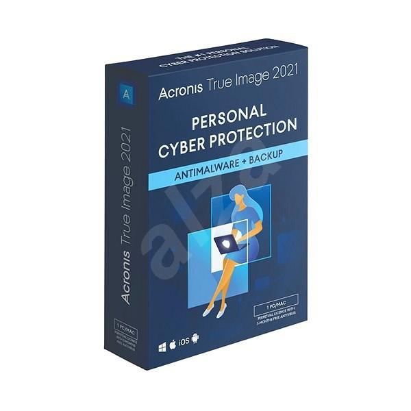 Acronis True Image 2021 Advanced Protection pro 1 PC na 1 rok + 250GB Acronis Cloud úložiště (elektr - Zálohovací software