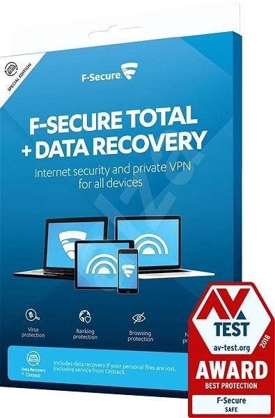 F-Secure TOTAL DR pro 1 zařízení na 1 rok + Data Recovery pro 1 zařízení na 1 rok (elektronická lice - Antivirus