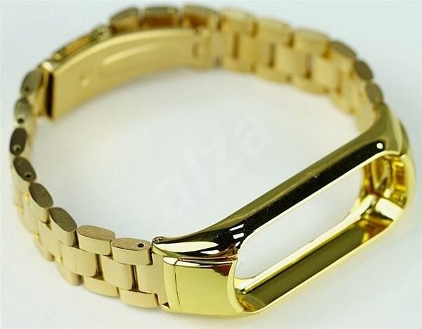 SXT Mi Band 3 kovový náramek (Typ 1) zlatý - řemínek